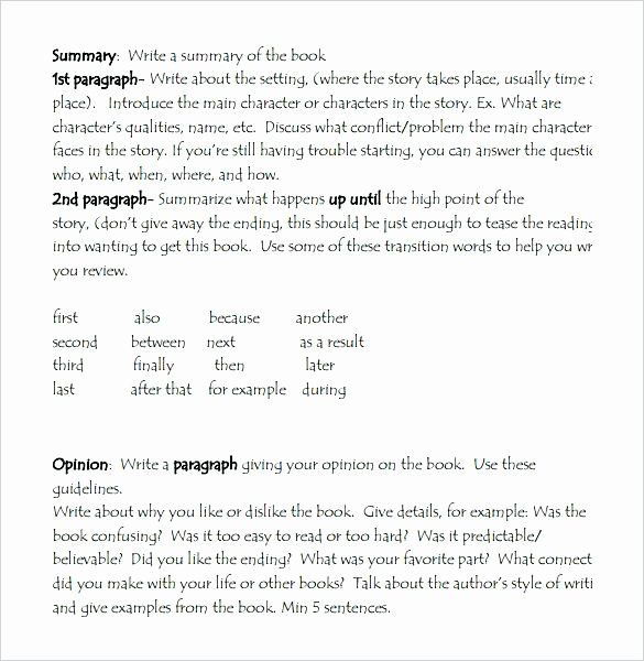 Book Review Template High School Lovely Basic Paragraph Essay Write Incident Report Nursing Cove In 2020 Middle Books What I Justice