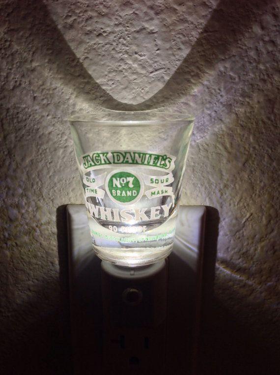 Jack Daniels Green Label Shot Glass by LastCallillumination, $15.00