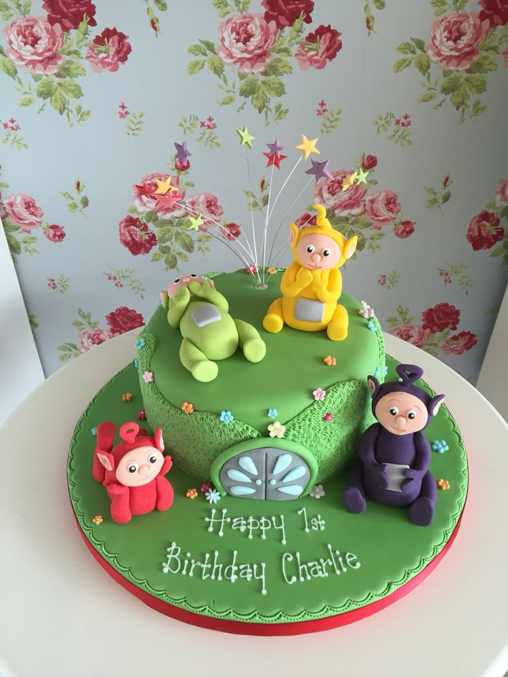 1st birthday teletubbies cake