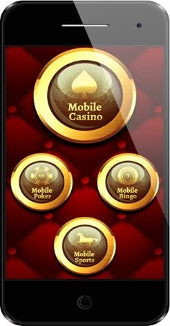 iPhone Casino Games, vintage banner