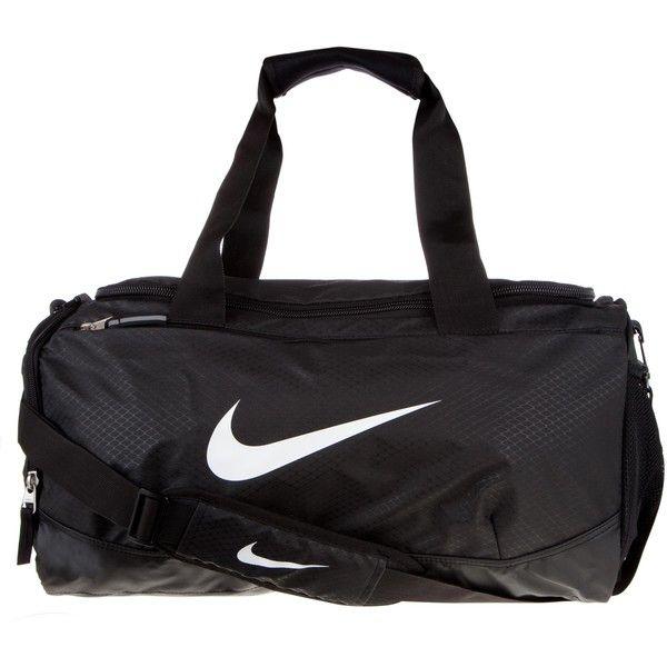 Nike Team Training Max Air Small Duffle Bag ($35) ❤ liked on Polyvore featuring bags, handbags, accessories, unisex, top handle handbags, top handle purse, multi pocket duffel bag, duffle bag and zipper bag