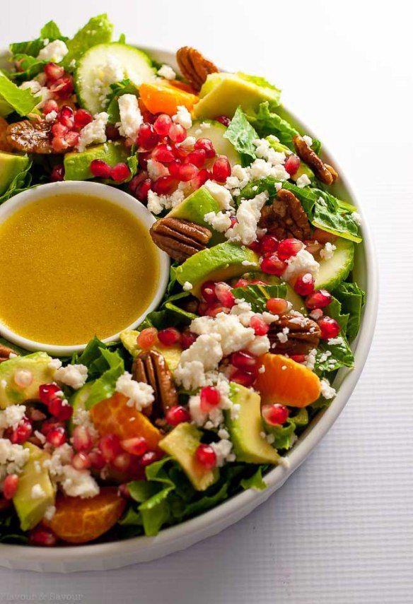 Pomegranate Mandarin Salad With Avocado And Feta Recipe Holiday