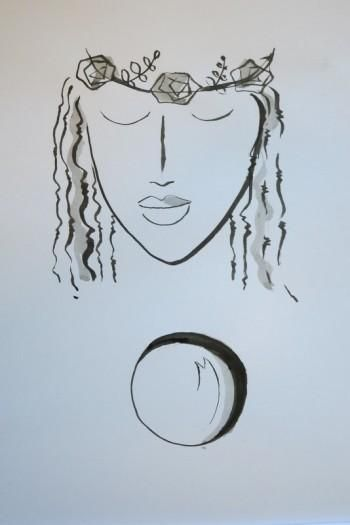 """Bride of moon"" #Creative #Art in #sketching @Touchtalent"