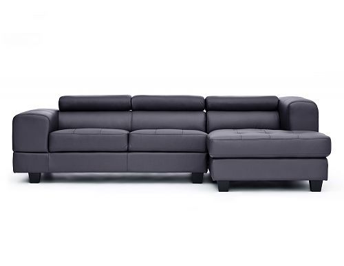 Structube - Living room : Sectional sofas : Benjamin (Black)