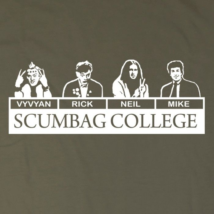 The Young Ones -Scumbag College t-shirt