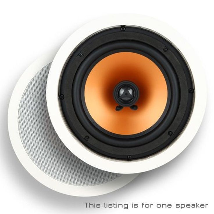 """Micca M-8C 8 Inch 2-Way In-Ceiling In-Wall Speaker with Pivoting 1"""" Silk Dome..."""