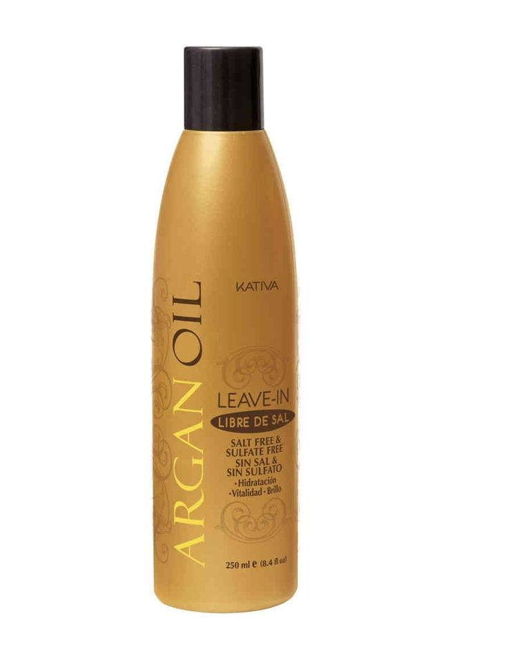 Kativa Argan Oil Leave-In Είναι μια γραμμή που σχεδιάστηκε  για ξηρά, θαμπά μαλλιά, που δημιουργούνται  από διάφορους παράγοντες και από εξωτερικούς παράγοντες όπως ο καιρός, ο ήλιος, κ.λπ.   Έχει ενυδατική δράση η οποία  αποτρέπει την ξηρότητα και προστατεύει  την τρίχα δίνοντας παράλληλα  φωτεινότητα και λάμψη.  Διευκολύνει το χτένισμα διατηρώντας ομαλή και μεγαλύτερη προστασία κατά τη διάρκεια της ημέρας.