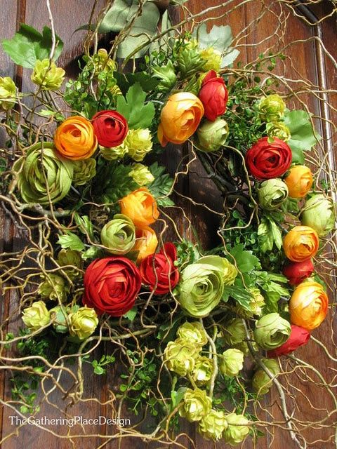 This is absolutely gorgeous! I love ranunculus! Front door