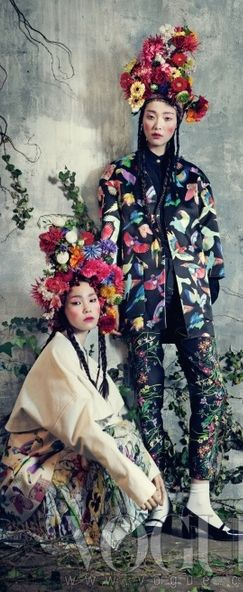 ❀ Flower Maiden Fantasy ❀ women & flowers in art fashion photography - Vogue Korea, February 2013