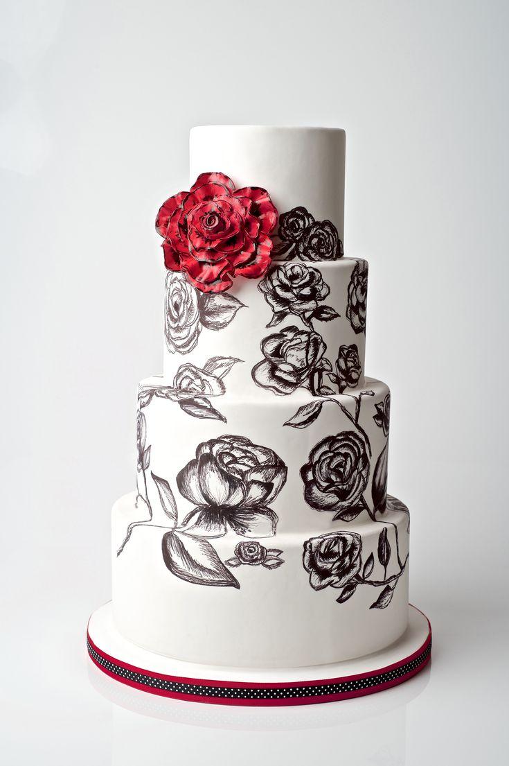 15 best Floral Wedding Cakes images on Pinterest | Floral wedding ...