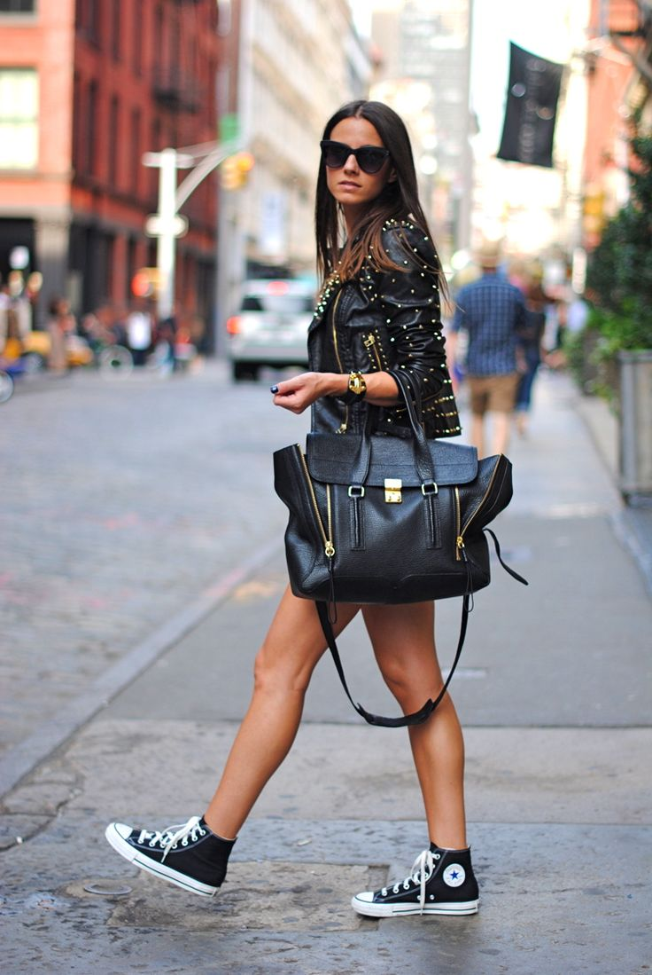 #streetstyle #leather #converse