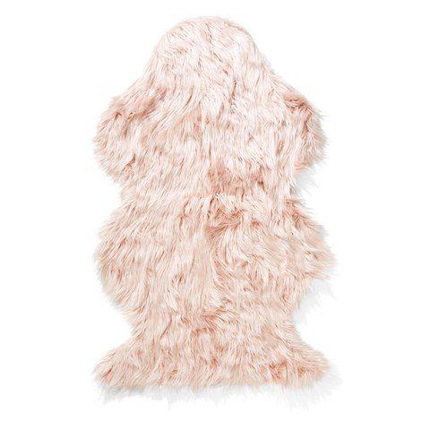 Wellington Faux Fur Rug - Pink
