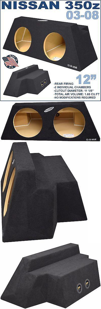Speaker Sub Enclosures: 2003-2008 Nissan 350Z Dual 12 Subwoofer Enclosure Speaker Sub Box Ground-Shaker -> BUY IT NOW ONLY: $160 on eBay!