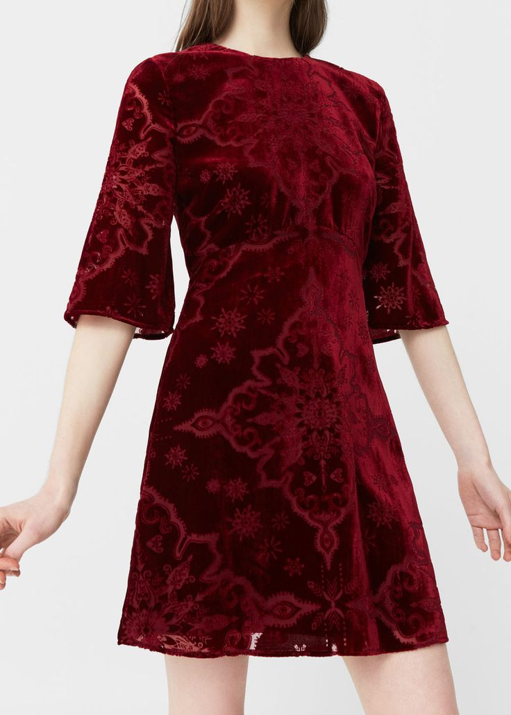 Velvet dress - Dresses for Woman | MANGO USA