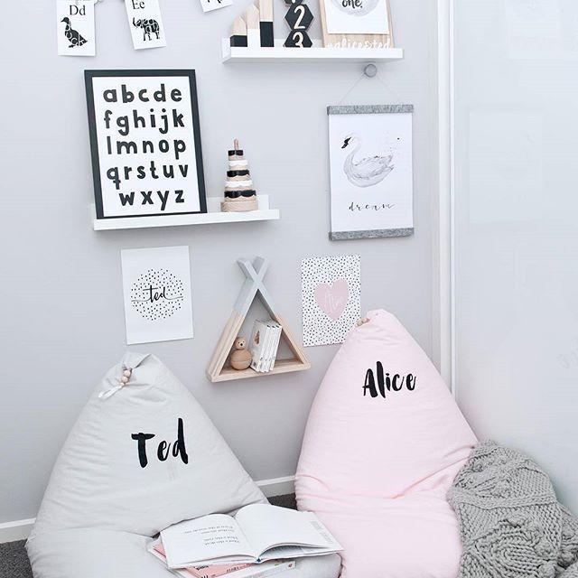 Makers Ink Alphabet print, styled by @catja_em    Scandi nursery decor, kids decor, playroom, monochrome, children's nursery, kids room, Nordic, Scandinavian, interior design, stylist