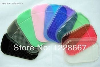 FREE SHIPPING 1PCS AUTO CAR 6 colors packaging Anti Slip MAT Non Slip Car Dashboard Sticky key mobile phone Pad small coin Mat