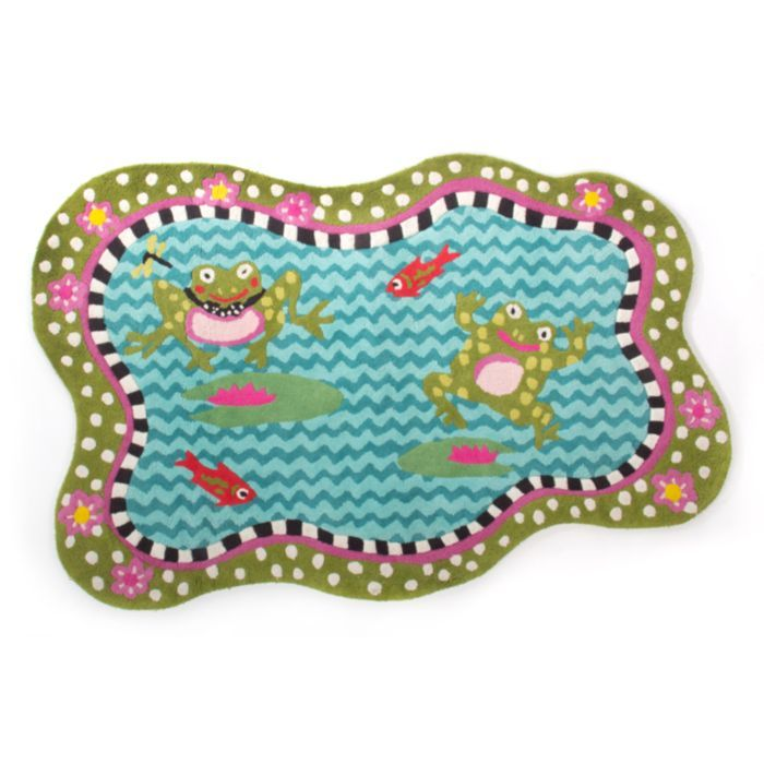 Mackenzie childs frog pond rug children pinterest for Mackenzie childs fish rug