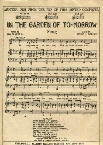 In the Garden... sheet music:    http://lilac-n-lavender.blogspot.com/2012/02/in-garden-gift-tags.html
