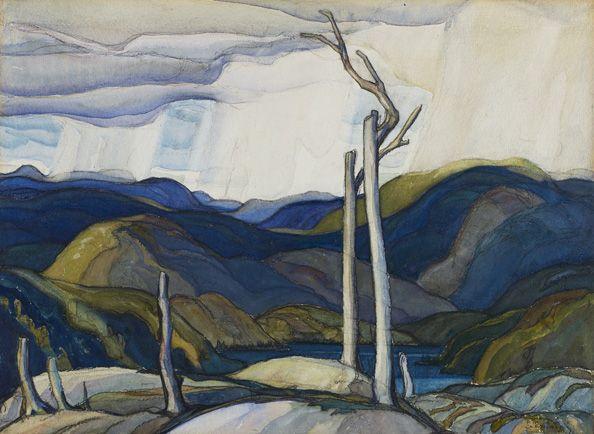 Franklin Carmichael. Snow Clouds. | AGO Art Gallery of Ontario