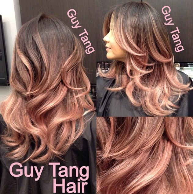 Guy tang Rose gold ombre