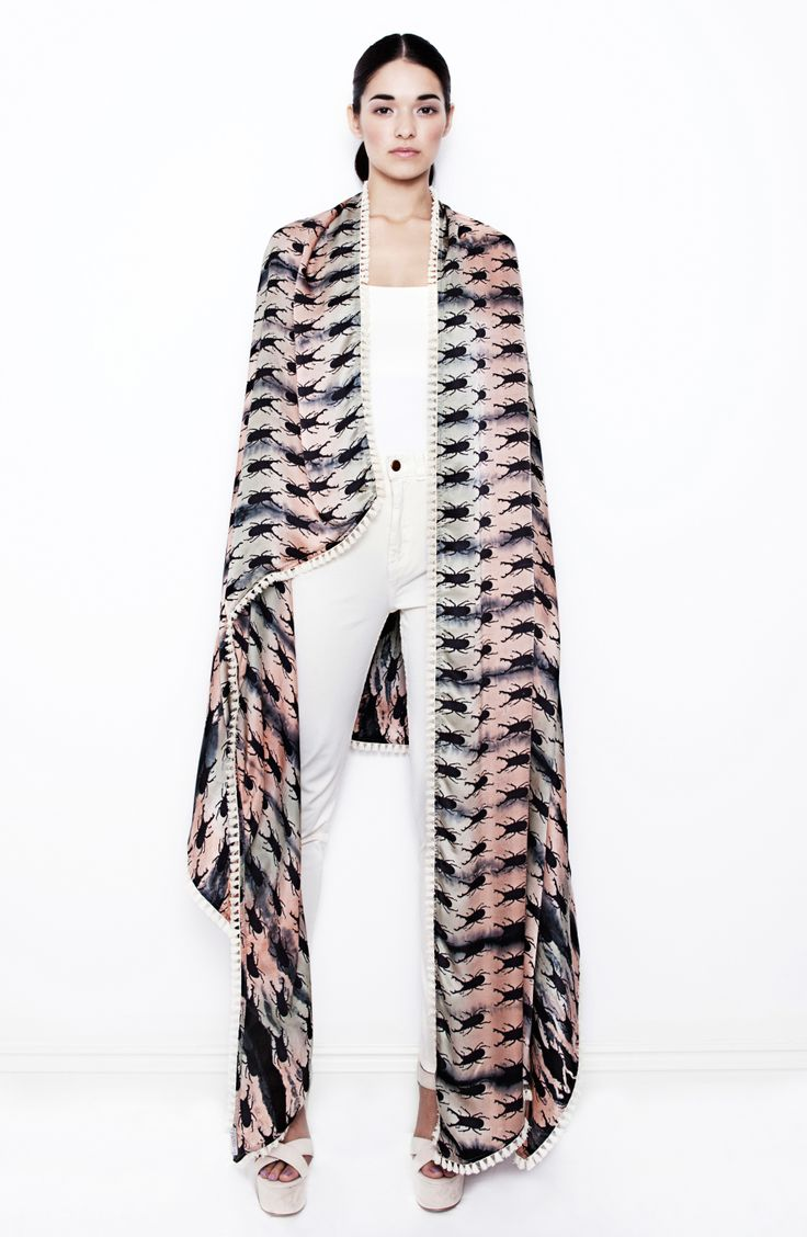 The stunning Beetlejuice Black Sand scarf. Such a versitile piece in the Alexia SS14 collection.  http://www.alexiafashion.co.uk/products/beetlejuice-black-sand #londonfashion #britishdesigner #fashioneditorial