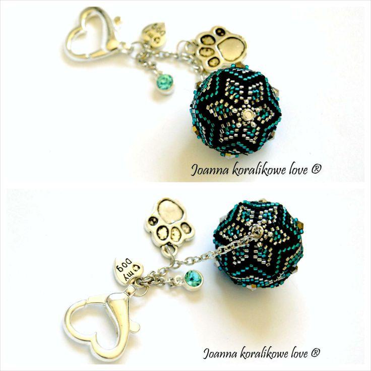 Beaded beads pendant brelock dogs beading jewelry