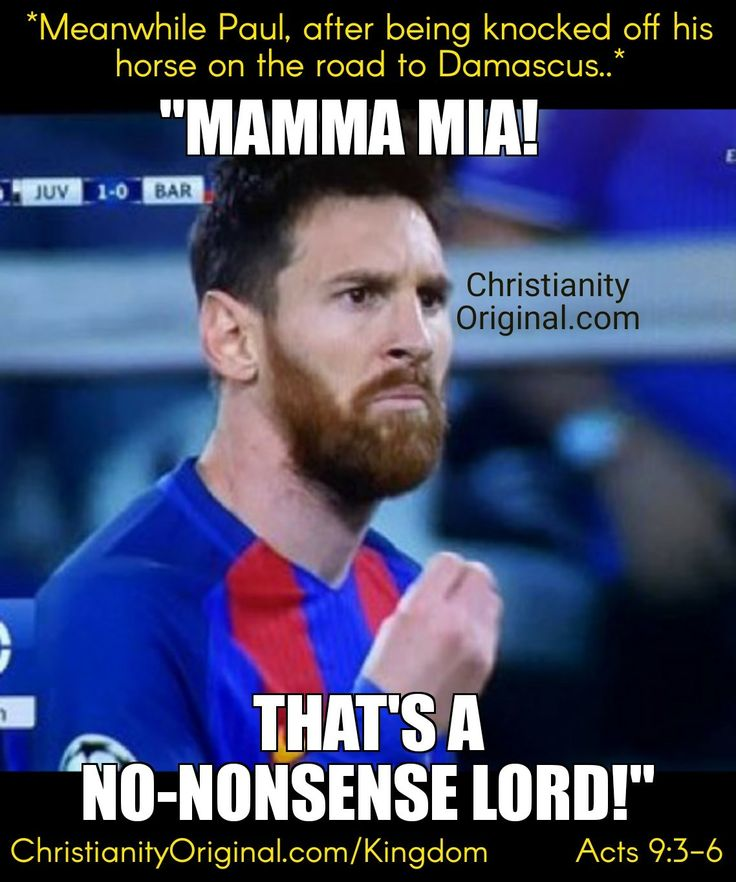 """#lionelmessi As Saul neared Damascus, suddenly a light flashed. He fell to the ground. """"Who're you, Lord?"""" """"I'm Jesus. Now get up & go into the city. You'll be told what to do."""" Acts9:3-6.  He said, """"You didn't choose me, but I chose you & appointed you."""" Jn15:16.  It's God who grants repentance. His purpose in election will stand. Acts11:18,Rom9:11."""