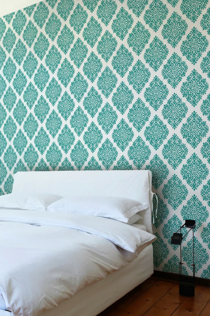 French Garden Damask Removable Wall Decal - Teal on HauteLook