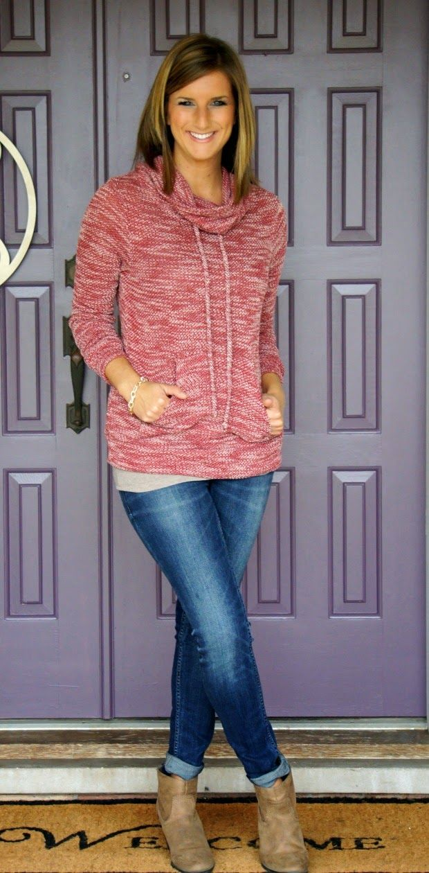 I really want one of these sweatshirts! I am always cold, so love an extra layer to throw on!