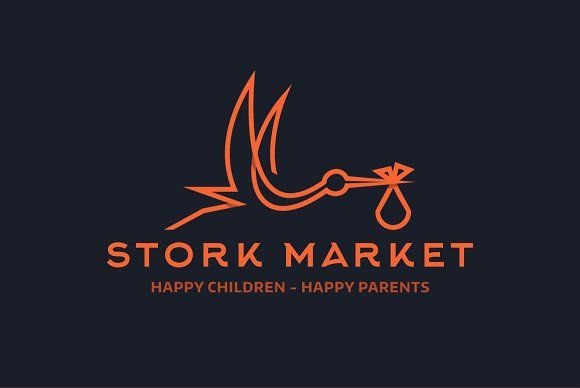Stork market by LogoCreator on @Graphicsauthor