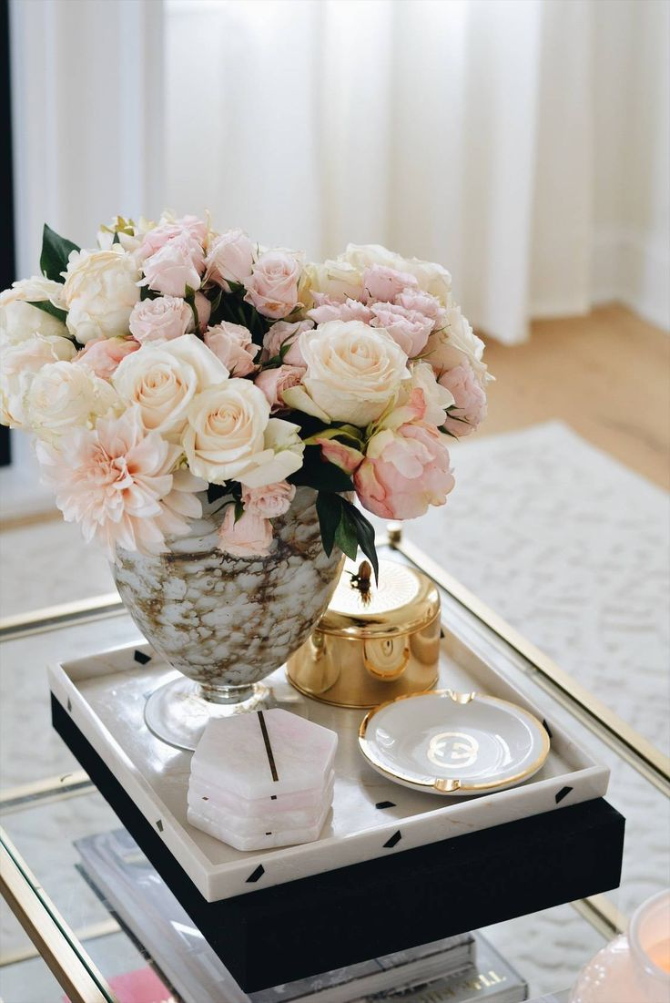 Afloral Silk Flowers The Best Ginger Jar Vases Glass Coffee Table Decor Coffee Table Flowers Flower Arrangements