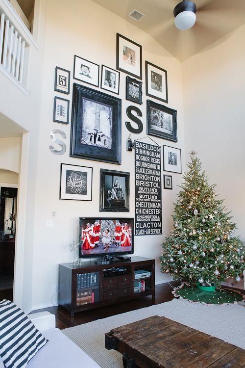 Picture Frame Arrangement Around Tv