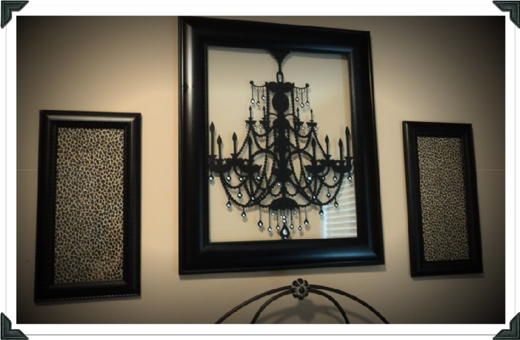 framed Chandelier wall decal! Wall decal from Target http