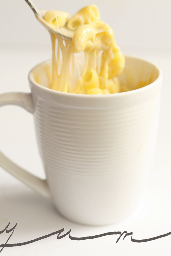Homemade Instant Mac and Cheese in the microwave! An easy and quick way to satisfy a mac and cheese craving