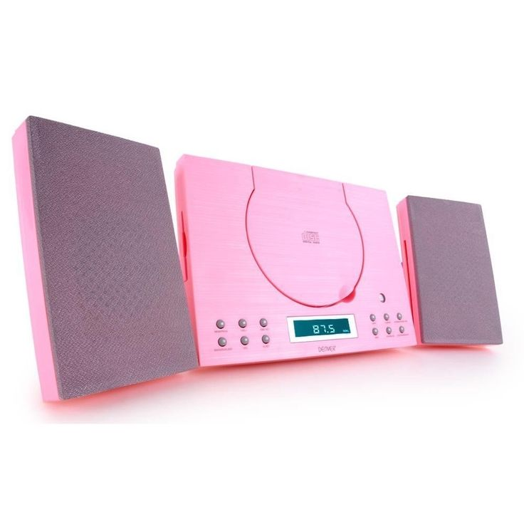 Denver MC-5010 Pink CD player, FM Radio with Clock Alarm and Wall Mountable