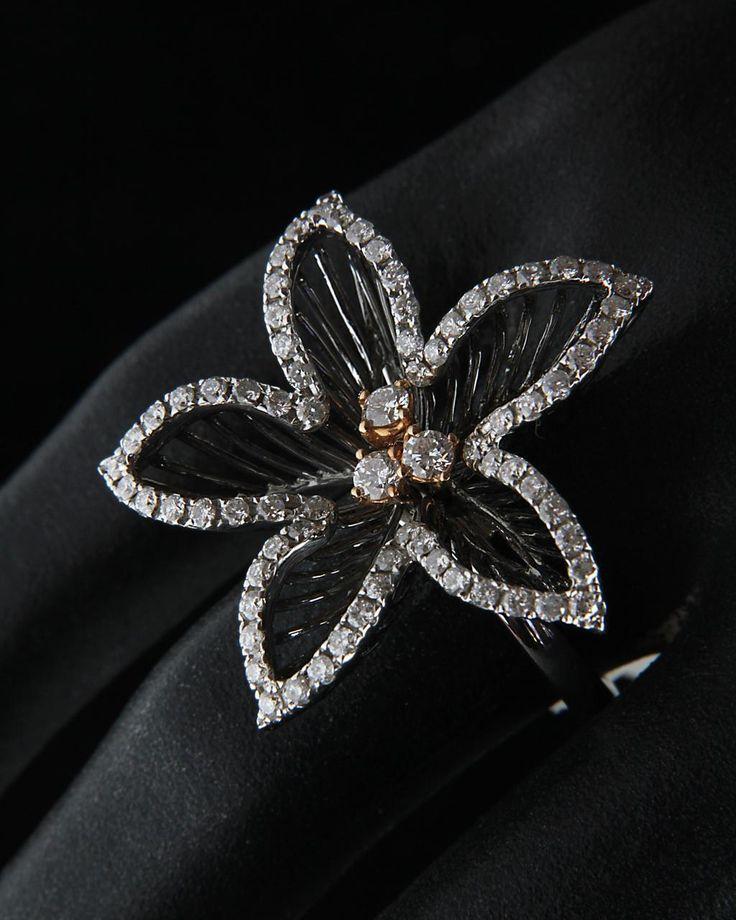 Δαχτυλίδι ροζ χρυσό & λευκόχρυσο Κ18 με Διαμάντια