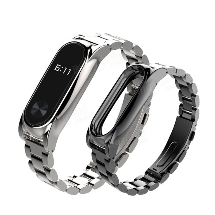 Mijobs Replacement Metal Stainless Steel Frame Bracelet Wristband For Miband 2 Sale - Banggood.com