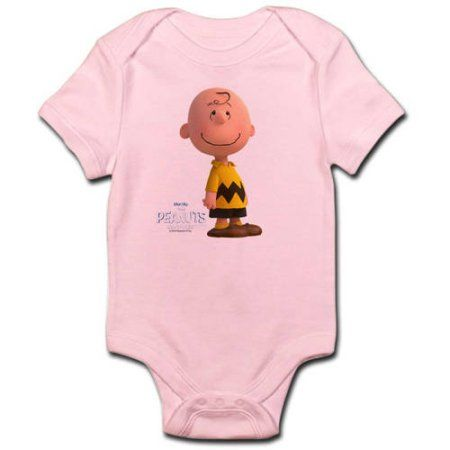 CafePress Charlie Brown - The Peanuts Movie Infant Bodysuit, Pink