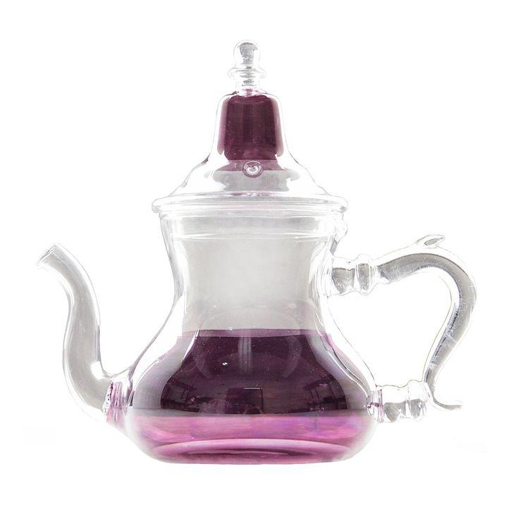 Purple Moroccan Glass Teapot   pretty pretty