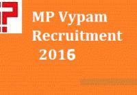 MPPEB MP Vyapam Recruitment 2016