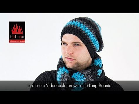 Long Beanie bosnisch häkeln - Mütze häkeln - Kettmaschen häkeln (video with english notes) - YouTube
