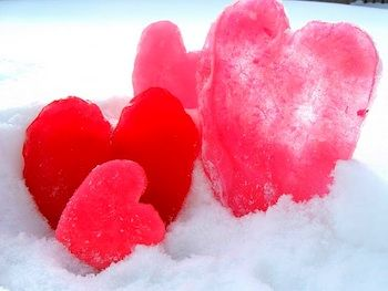 Ice Hearts! Ice popsicle hearts! My daughter always ask for popsicles even in the coldest months!