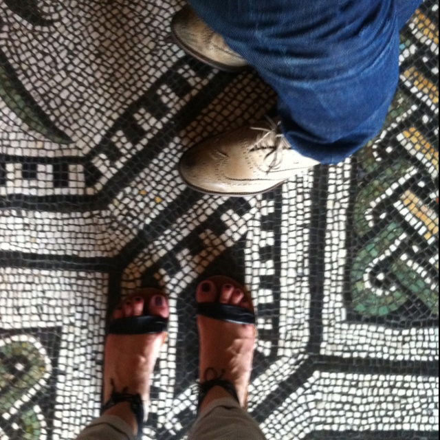 Standing on the mosaic floors of the Vatican museum!