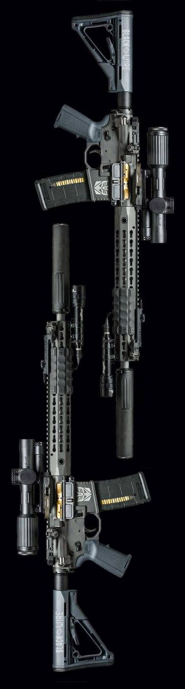 Salient Arms International AR15 rifle in Megatron theme. Photo by Black Wire Studio.