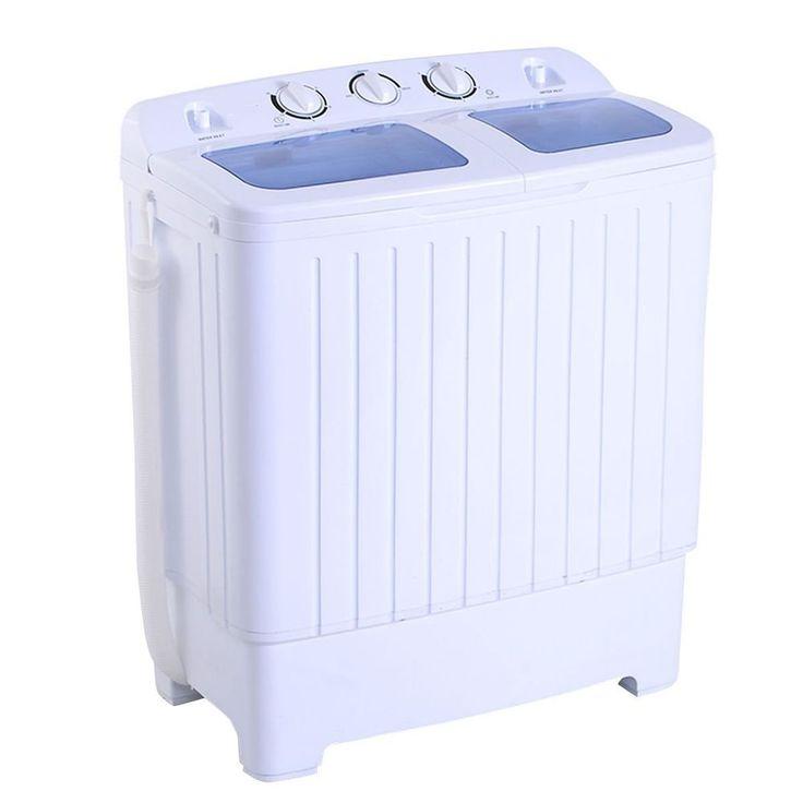 Portable Mini Compact Washing Machine Small RV Dorm 11lb Capacity Spin  Dryer NEW