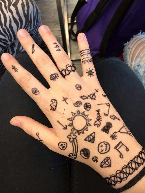 Крутые рисунки ручкой на руках
