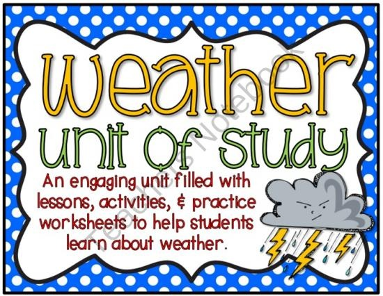 This weather unit of study includes 110 pages full of lesson ideas, engaging activities, and worksheets.