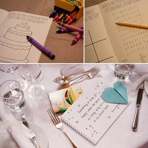How to entertain kids at a wedding -  activity book Goes with the jars you pinned