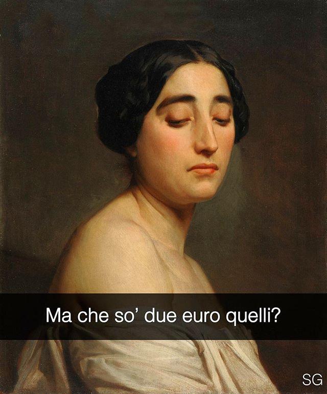 Disdain - William-Adolphe Bouguereau (1850) #Ciaone, il nuovo libro de Se i quadri potessero parlare, è in tutte le librerie, su Amazon e IBS! #seiquadripotesseroparlare #stefanoguerrera