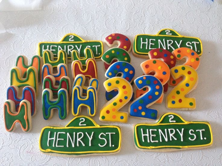 Sesame Street cookie platter